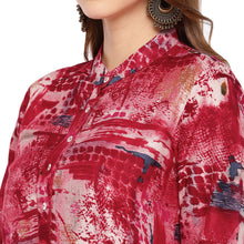 Load image into Gallery viewer, Women Red Printed Straight Kurta-5