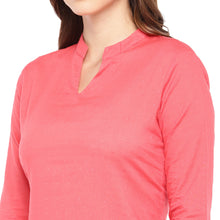 Load image into Gallery viewer, Women Pink Solid Straight Kurta-5