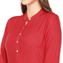 Load image into Gallery viewer, Women Red Solid Straight Kurta-5