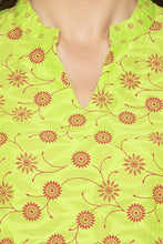 Load image into Gallery viewer, Floral Print Green Kurta-5
