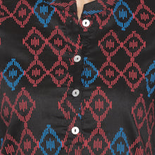 Load image into Gallery viewer, Casual Black Color Straight Printed Regular Kurtas-5