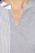 Load image into Gallery viewer, Vertical Striped Grey Kurta-5
