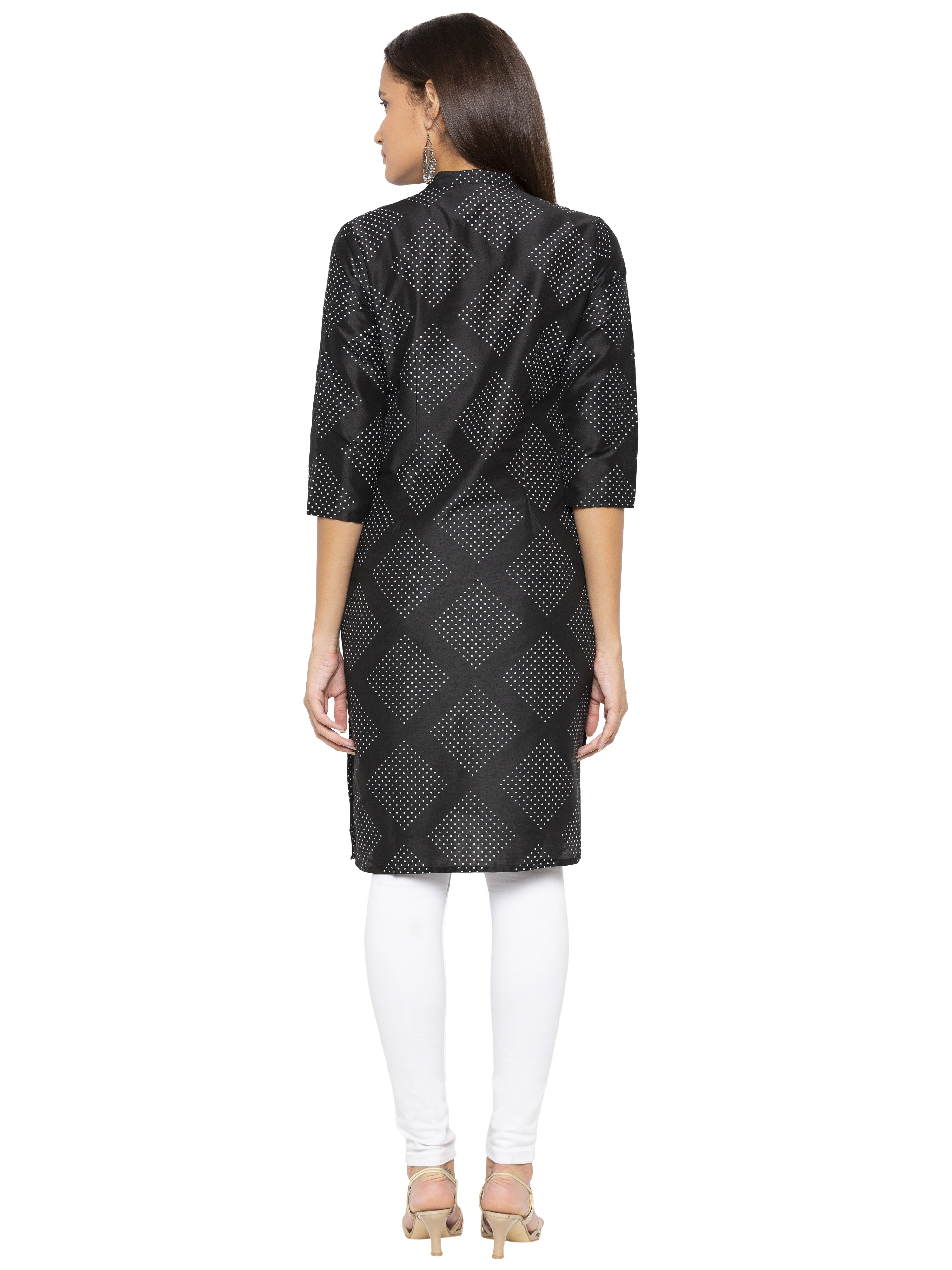 Black Printed Kurta-3