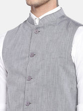 Load image into Gallery viewer, Grey Solid Nehru Jacket-5