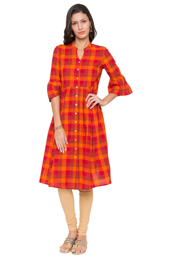 Checked Work Wear Kurta-1