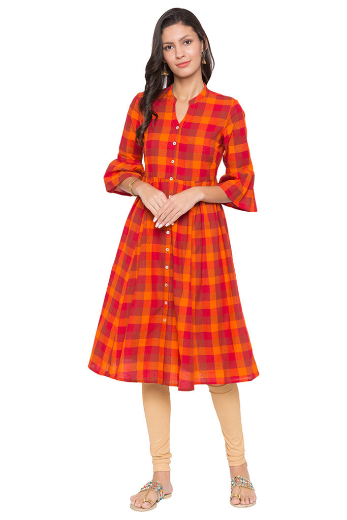 Checked Work Wear Kurta-2