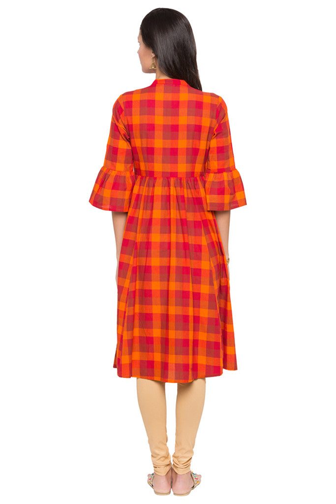 Checked Work Wear Kurta-3