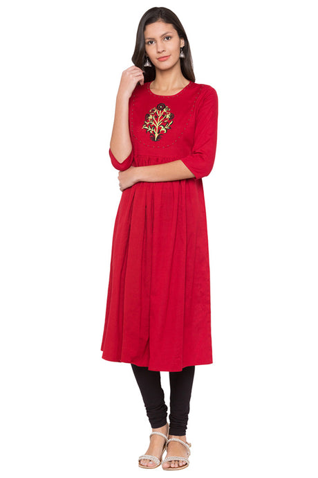 Embroidered Embellished Kurta-1