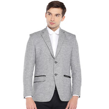 Load image into Gallery viewer, Grey Regular Fit Solid Casual Blazer-1