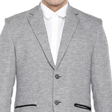 Load image into Gallery viewer, Grey Regular Fit Solid Casual Blazer-5