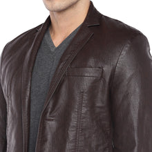 Load image into Gallery viewer, Brown Regular Fit Solid Casual Blazer-5