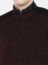 Load image into Gallery viewer, Maroon Self Design Tailored Jacket-5