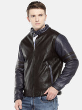 Load image into Gallery viewer, Black Solid Bomber-2
