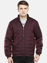 Load image into Gallery viewer, Red Solid Puffer Jacket-1