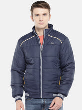 Load image into Gallery viewer, Navy Blue Solid Padded Jacket-1