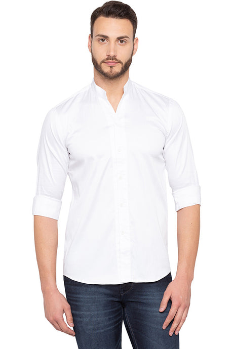 Solid White Party Shirt-1