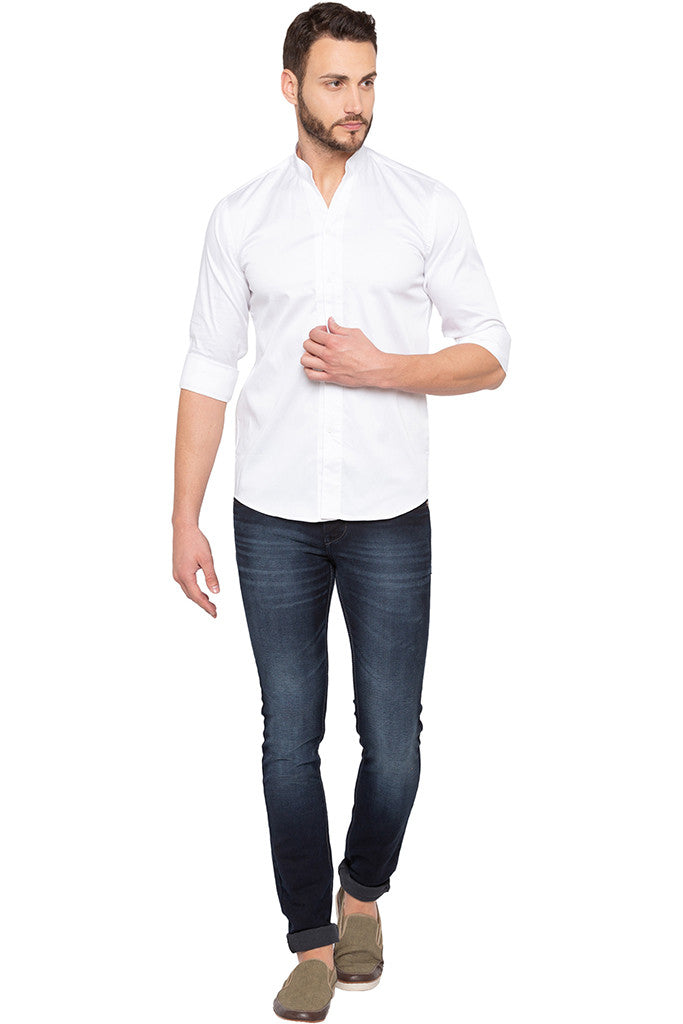Solid White Party Shirt-2