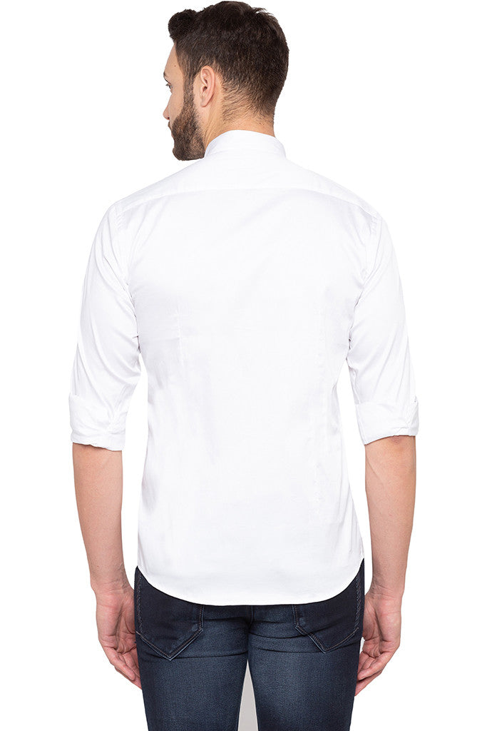 Solid White Party Shirt-3