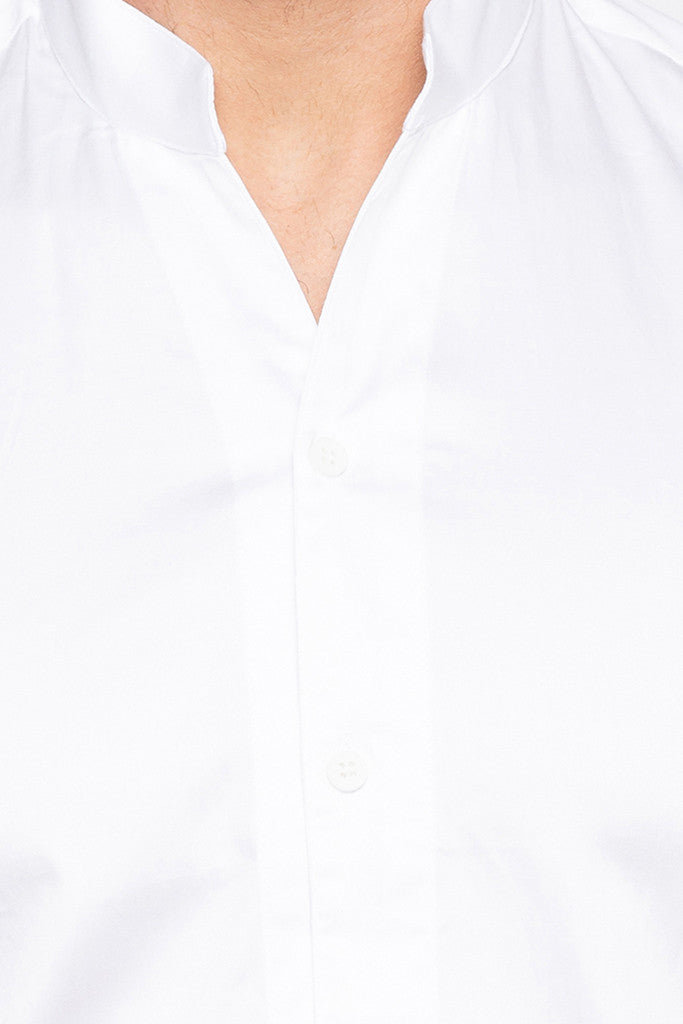 Solid White Party Shirt-5
