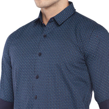 Load image into Gallery viewer, Blue Regular Fit Printed Casual Shirt-5