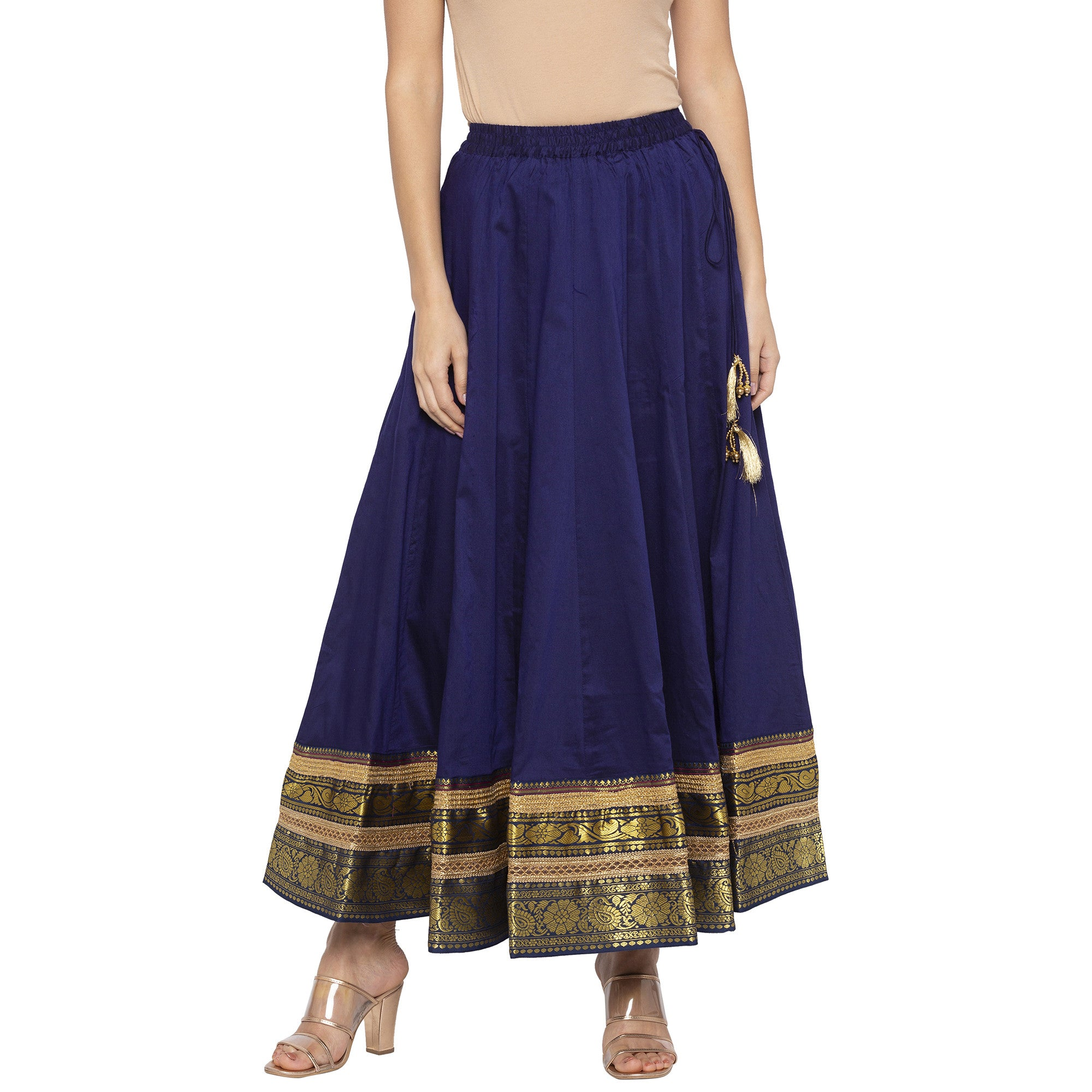 Indigo Solid Skirts-1
