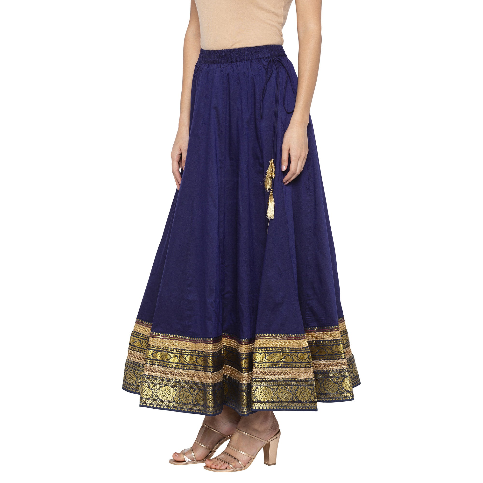 Indigo Solid Skirts-2