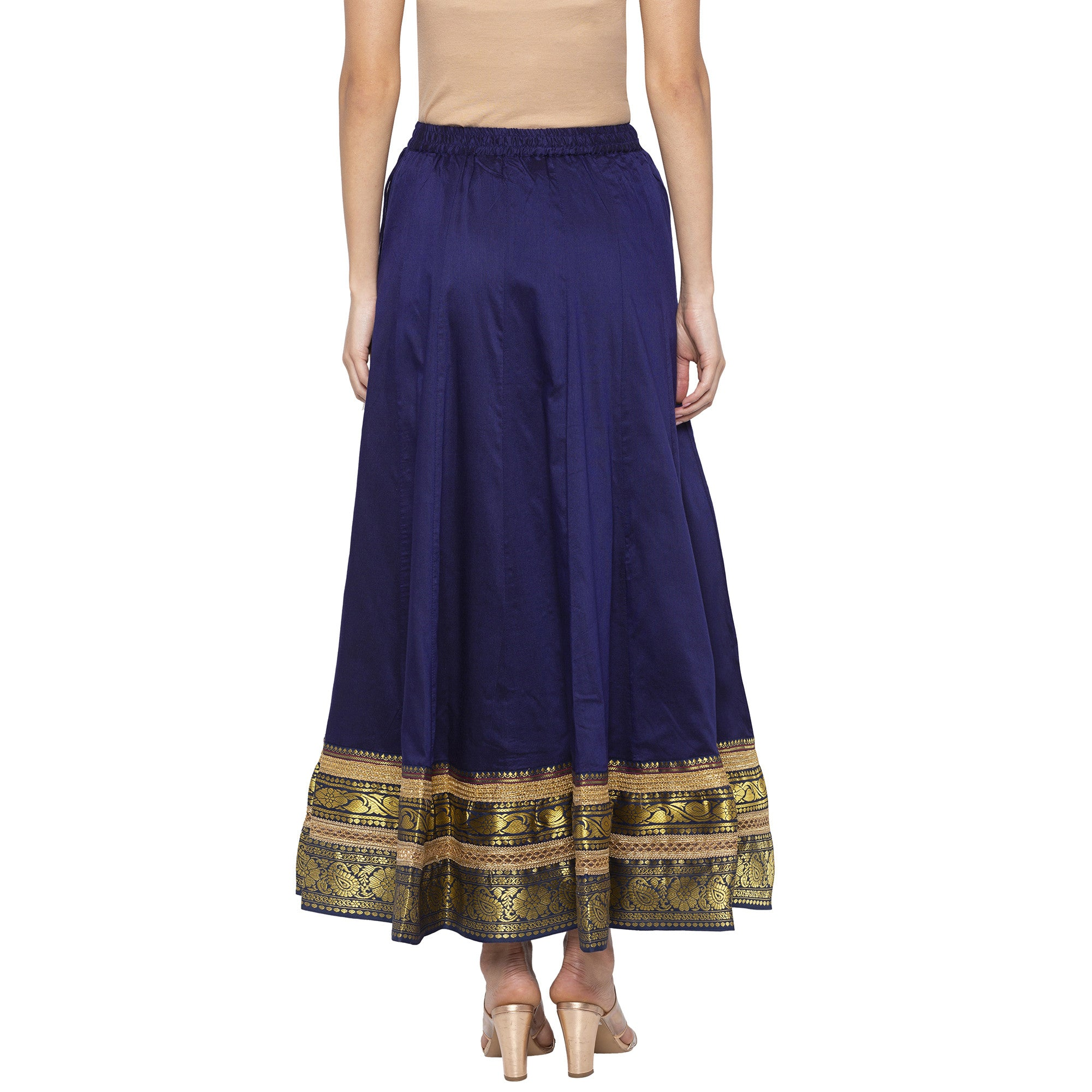 Indigo Solid Skirts-3