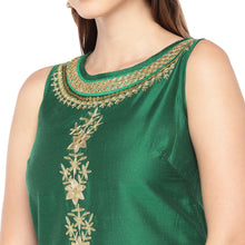 Load image into Gallery viewer, Women Green Solid Straight Kurta-5