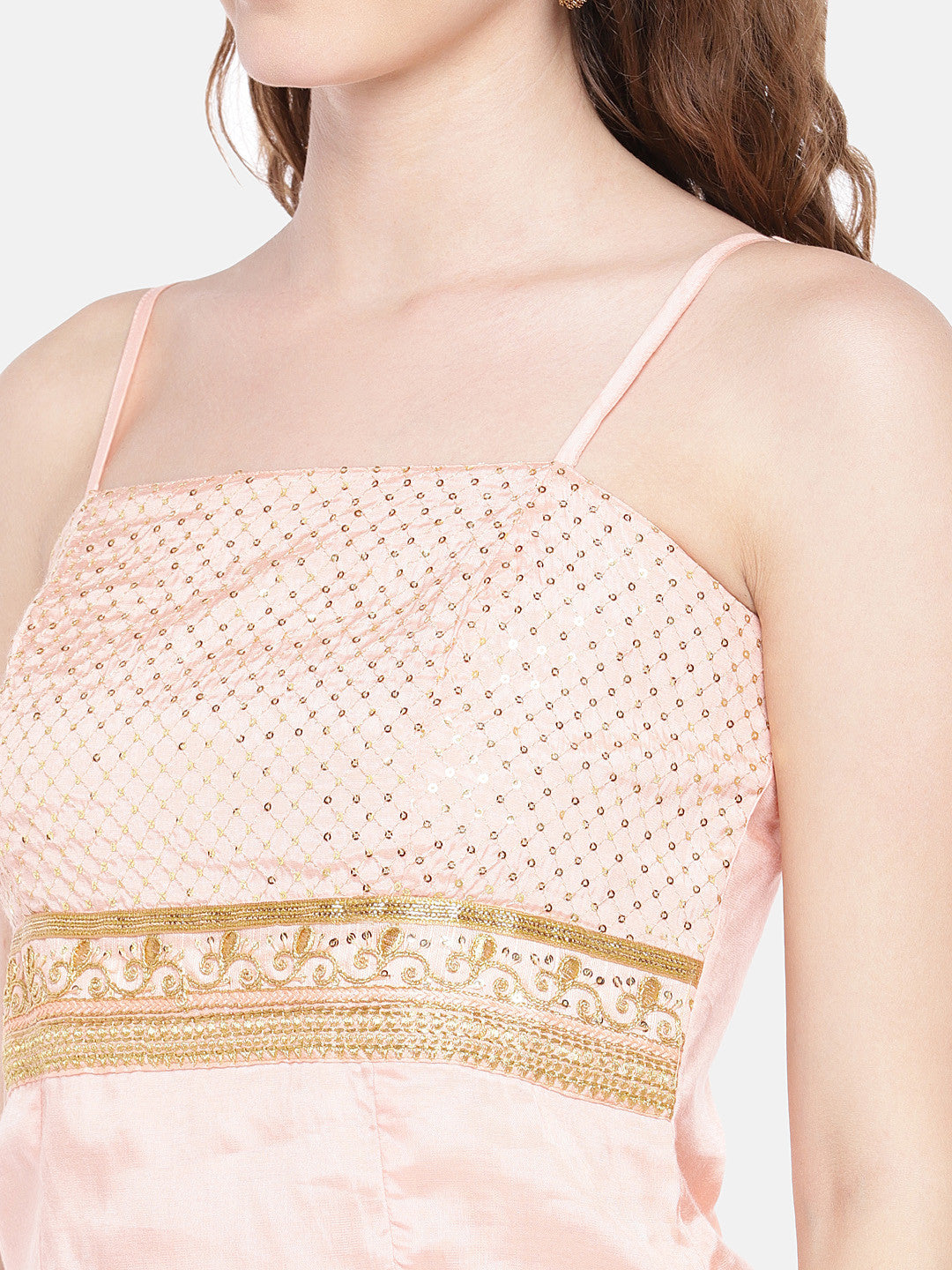 Peach-Coloured Embellished Top-5