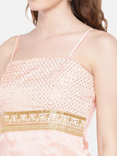 Load image into Gallery viewer, Peach-Coloured Embellished Top-5