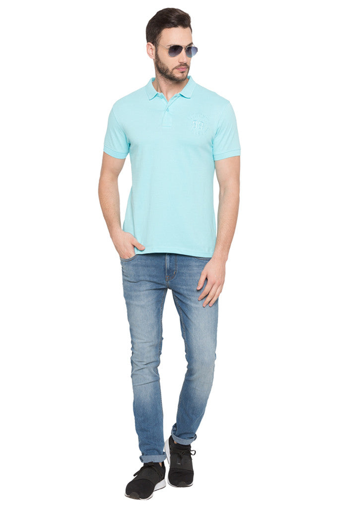 Short Sleeved Polo Neck T-shirt-2