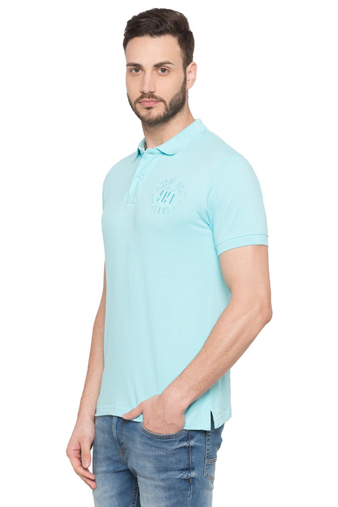 Short Sleeved Polo Neck T-shirt-4