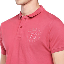 Load image into Gallery viewer, Pink Solid Polo Collar T-shirt-5