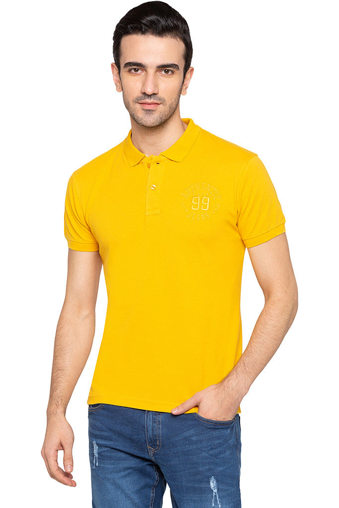 Polo Collar Solid T-shirt-1