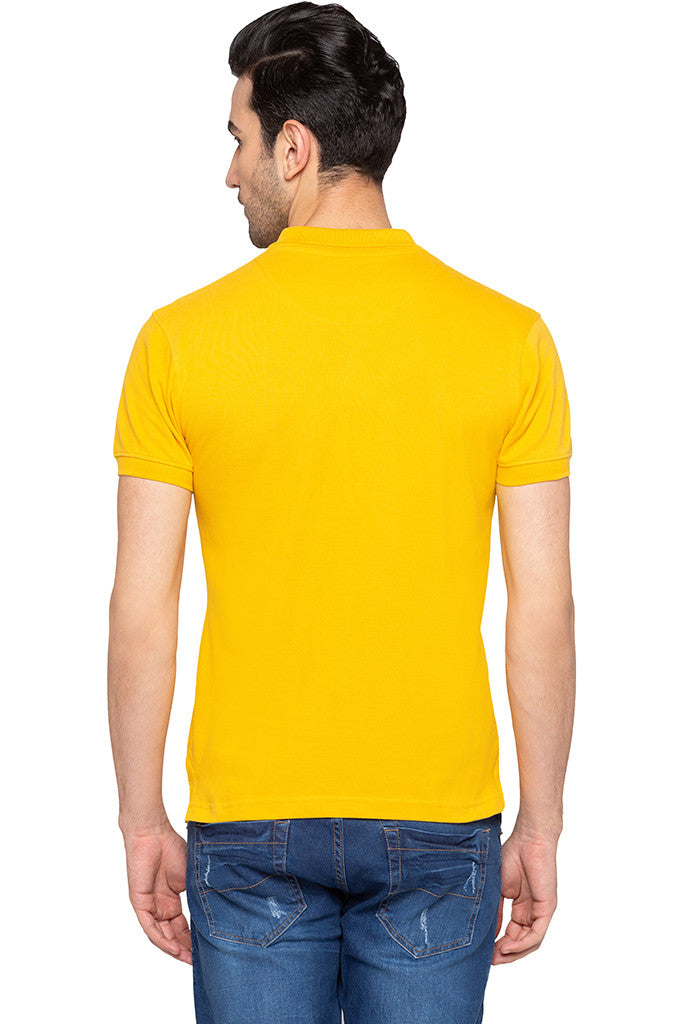 Polo Collar Solid T-shirt-3