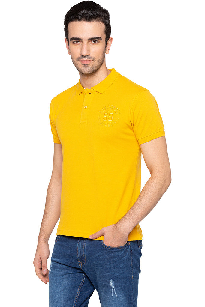 Polo Collar Solid T-shirt-4
