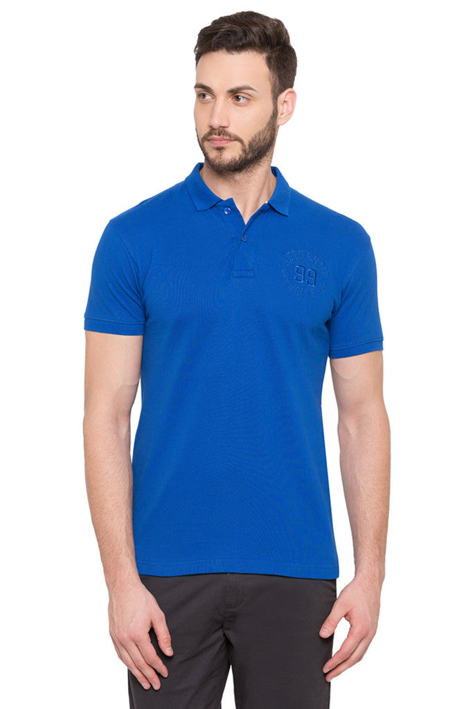 Short Sleeved Polo Neck T-shirt-1