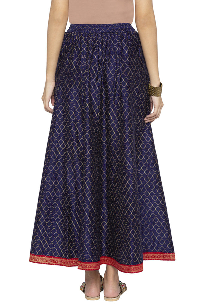 Ethnic Print Flared Skirt-3