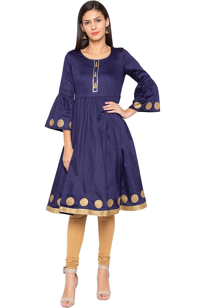 Bell Sleeved Kurta-1