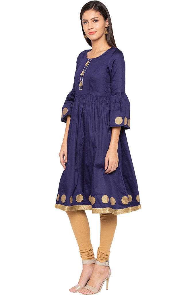 Bell Sleeved Kurta-4