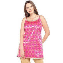Load image into Gallery viewer, Women Pink Printed A-Line Kurta-1