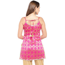 Load image into Gallery viewer, Women Pink Printed A-Line Kurta-3