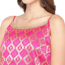 Load image into Gallery viewer, Women Pink Printed A-Line Kurta-5