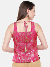 Load image into Gallery viewer, Pink Self Design Tunic-3