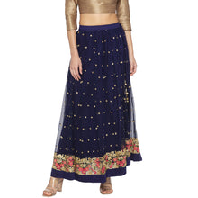 Load image into Gallery viewer, Blue Embellished Skirts-1