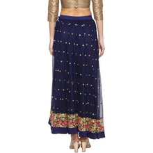 Load image into Gallery viewer, Blue Embellished Skirts-3