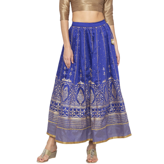 Blue Printed Skirts-1