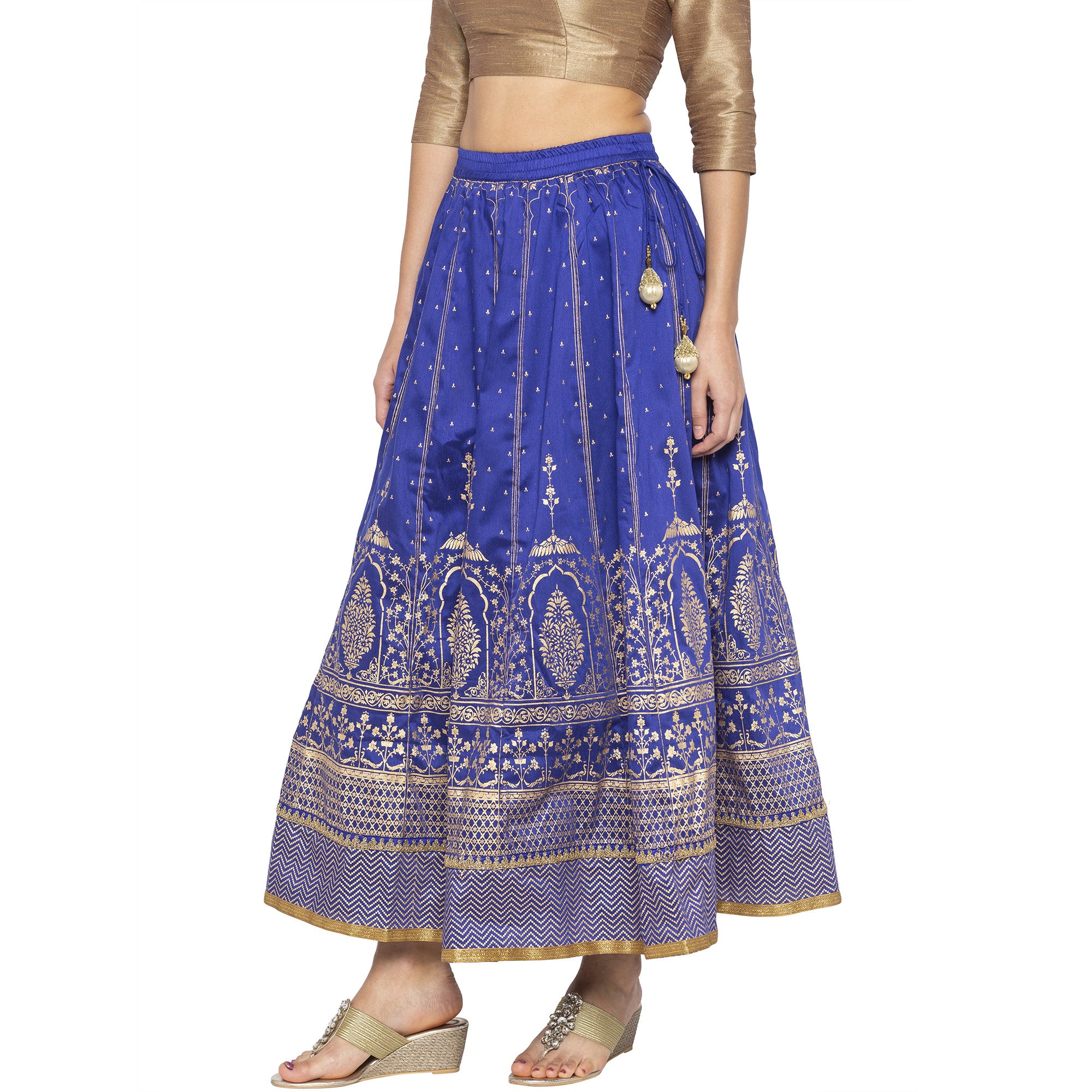Blue Printed Skirts-2