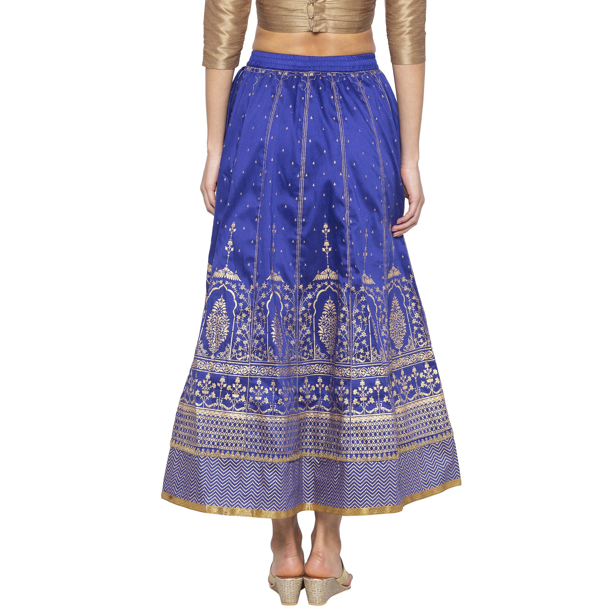 Blue Printed Skirts-3