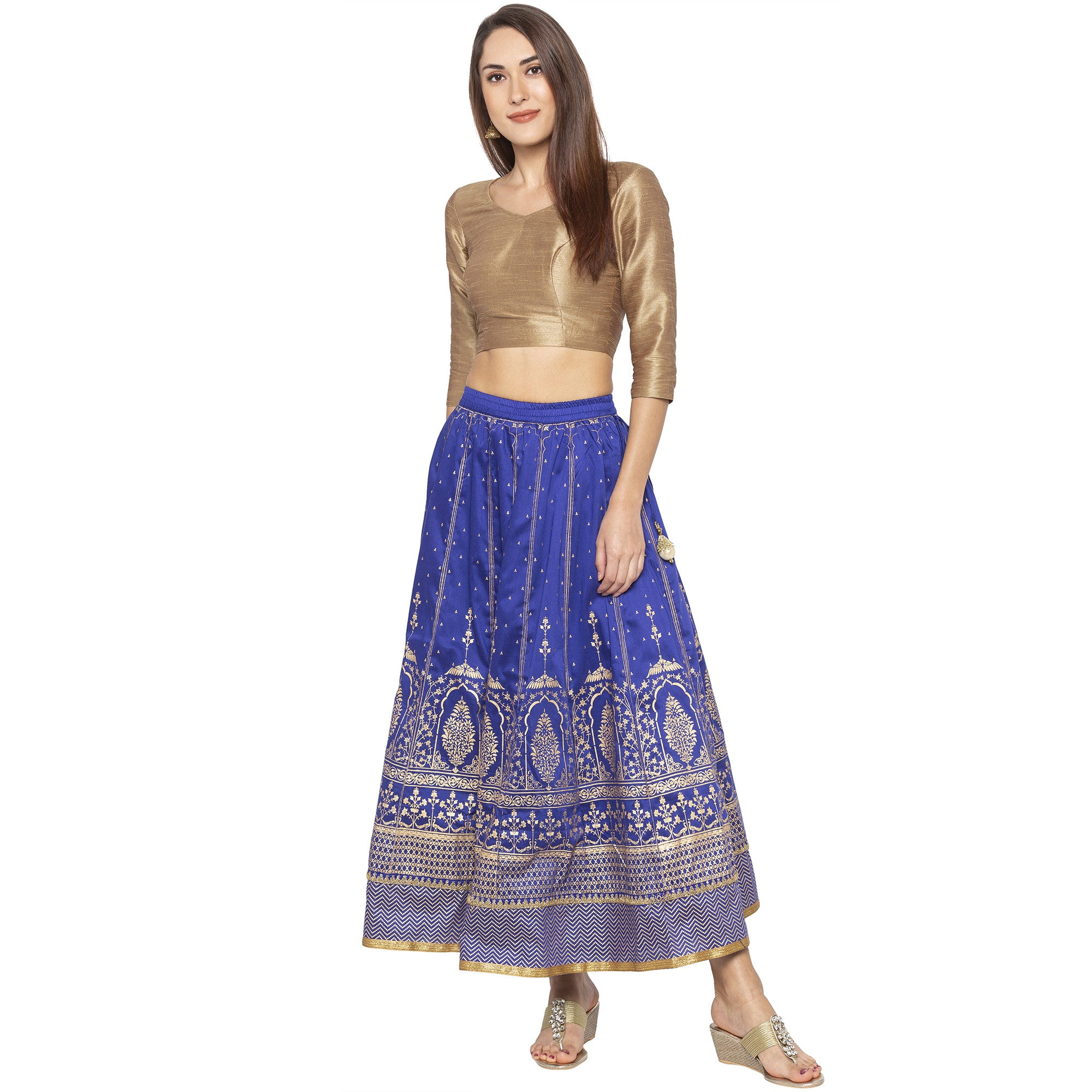 Blue Printed Skirts-4